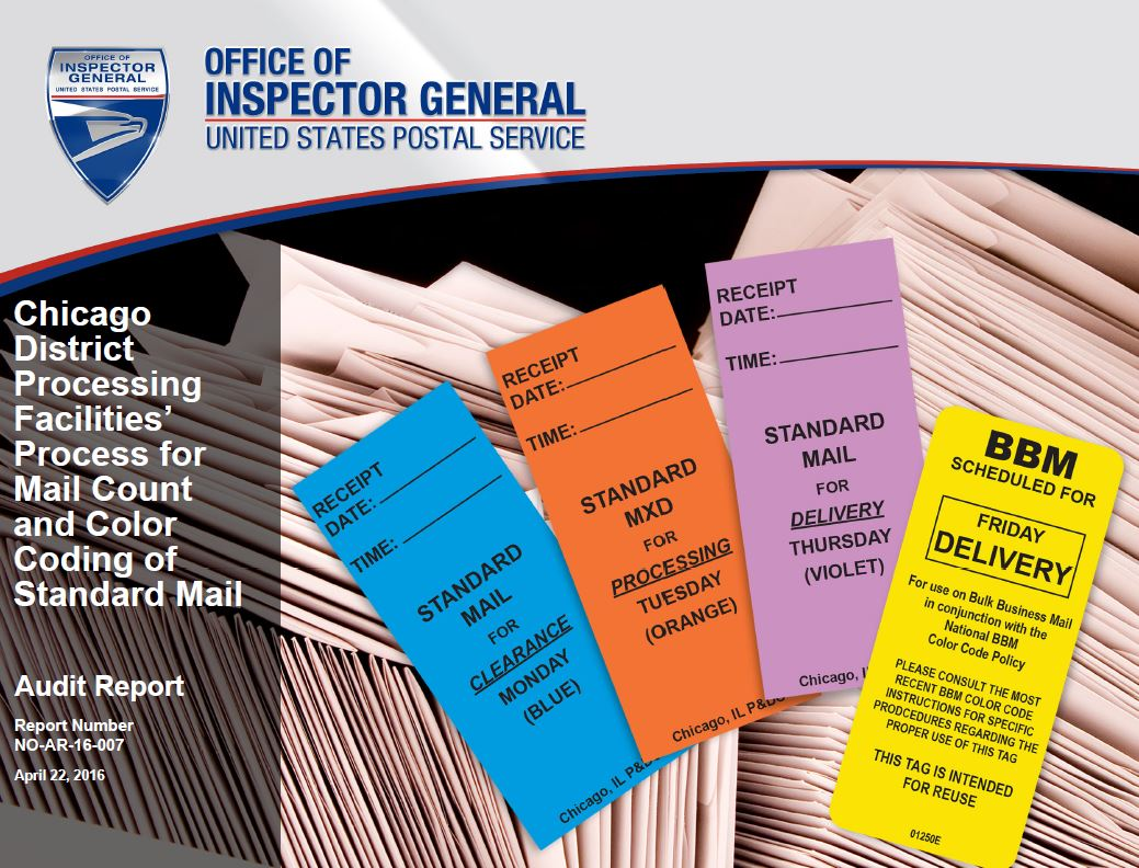 Chicago District Processing Facilities Process For Mail