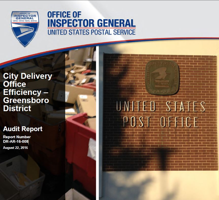 City Delivery Office Efficiency