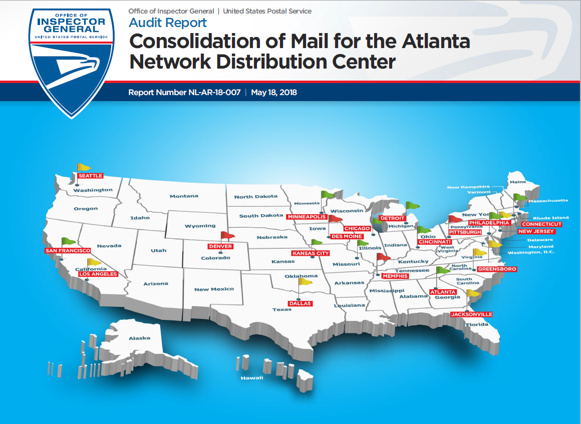 Consolidation of Mail for the Atlanta Network Distribution Center