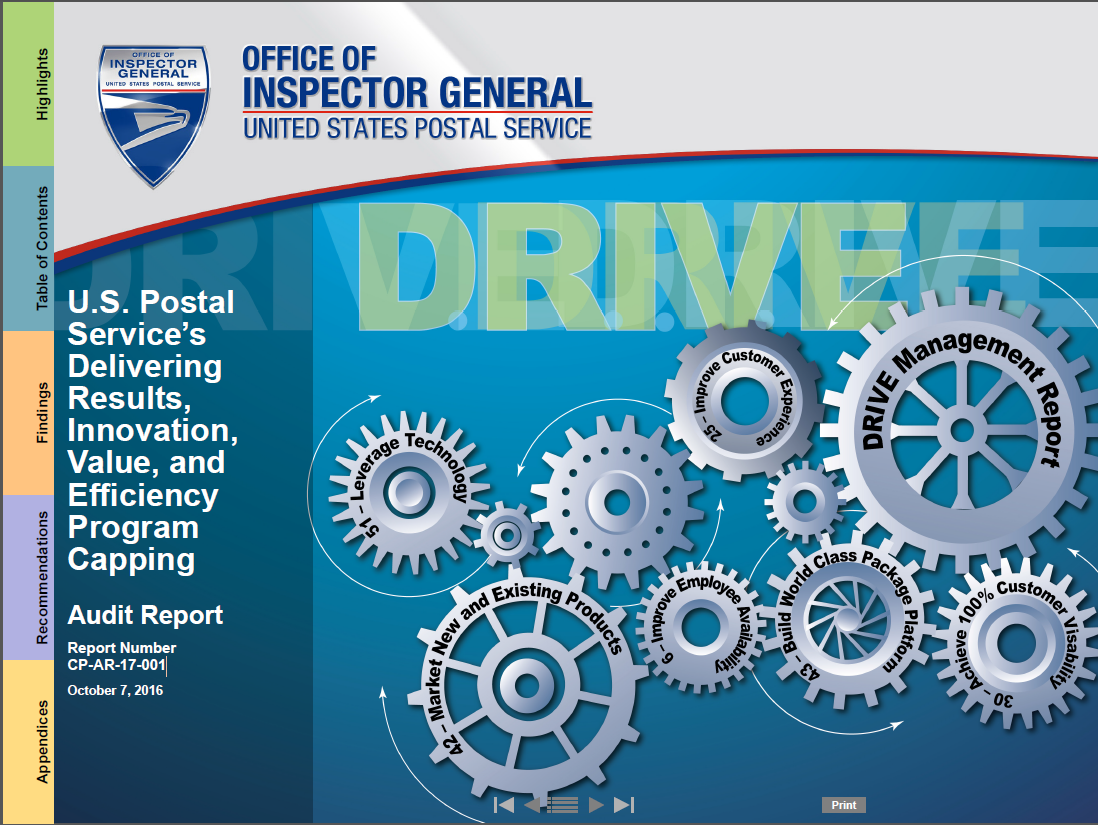 USPS's Delivering Results, Innovation, Value, and Efficiency