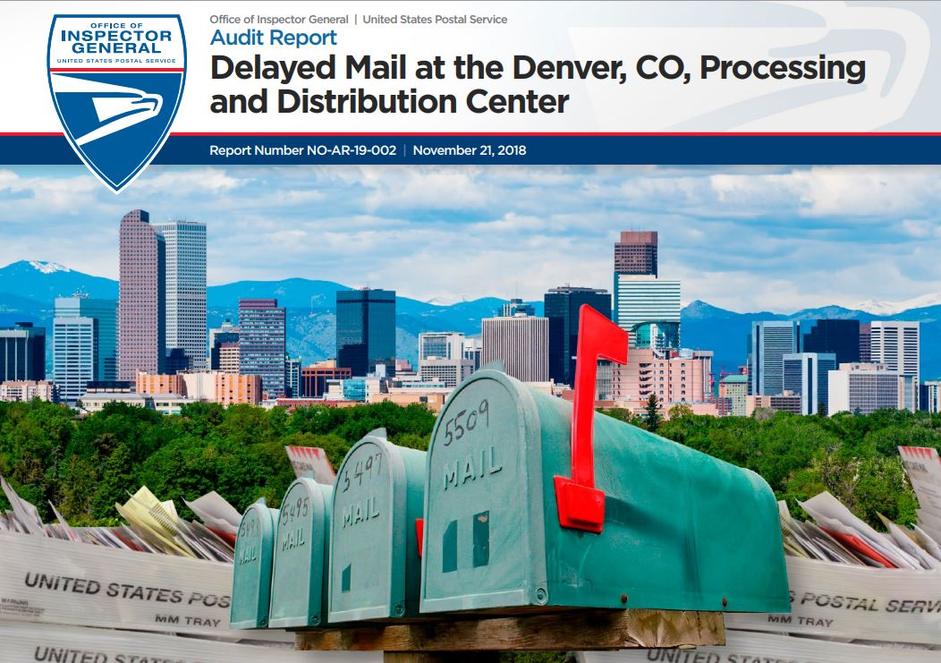Delayed Mail At The Denver, CO, Processing And