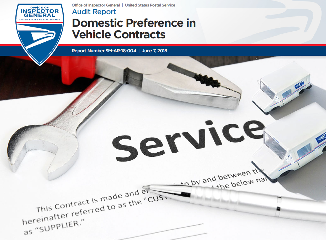 Domestic Preference in Vehicle Contracts | USPS Office of Inspector
