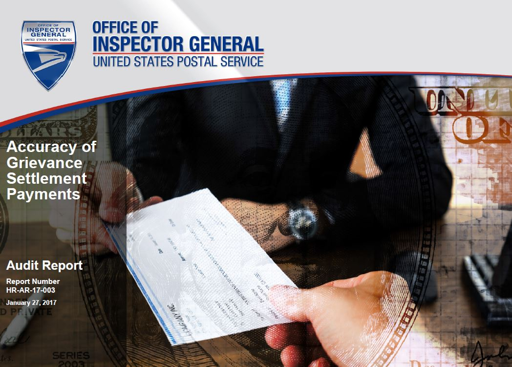 Oig Accuracy Of Grievance Settlement Payments Postal Employee Network