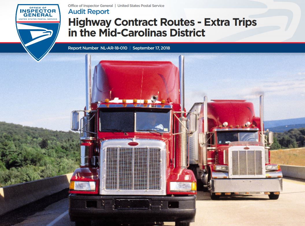 Highway Contract Routes Extra Trips In The Mid Carolinas District