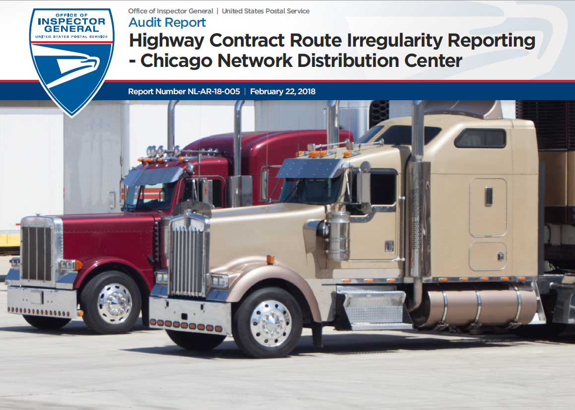 Highway Contract Route Irregularity Reporting Chicago Network