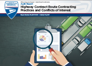 Highway Contract Route Contracting Practices and Conflicts of Interest report cover