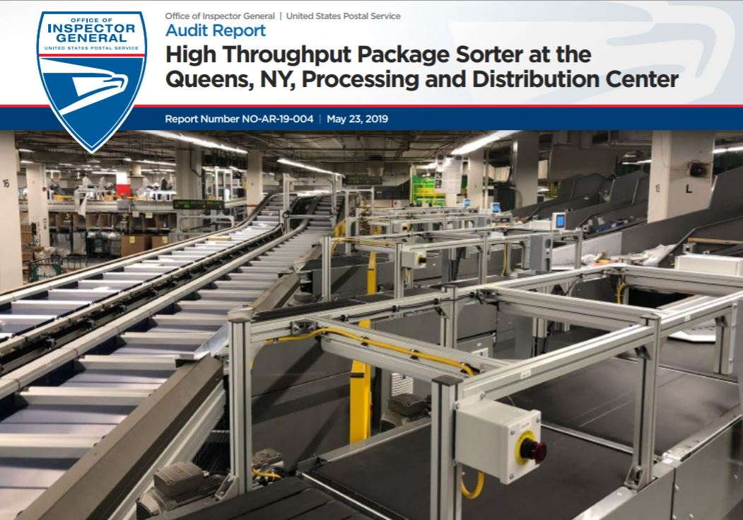 High Throughput Package Sorter at the Queens, NY, Processing