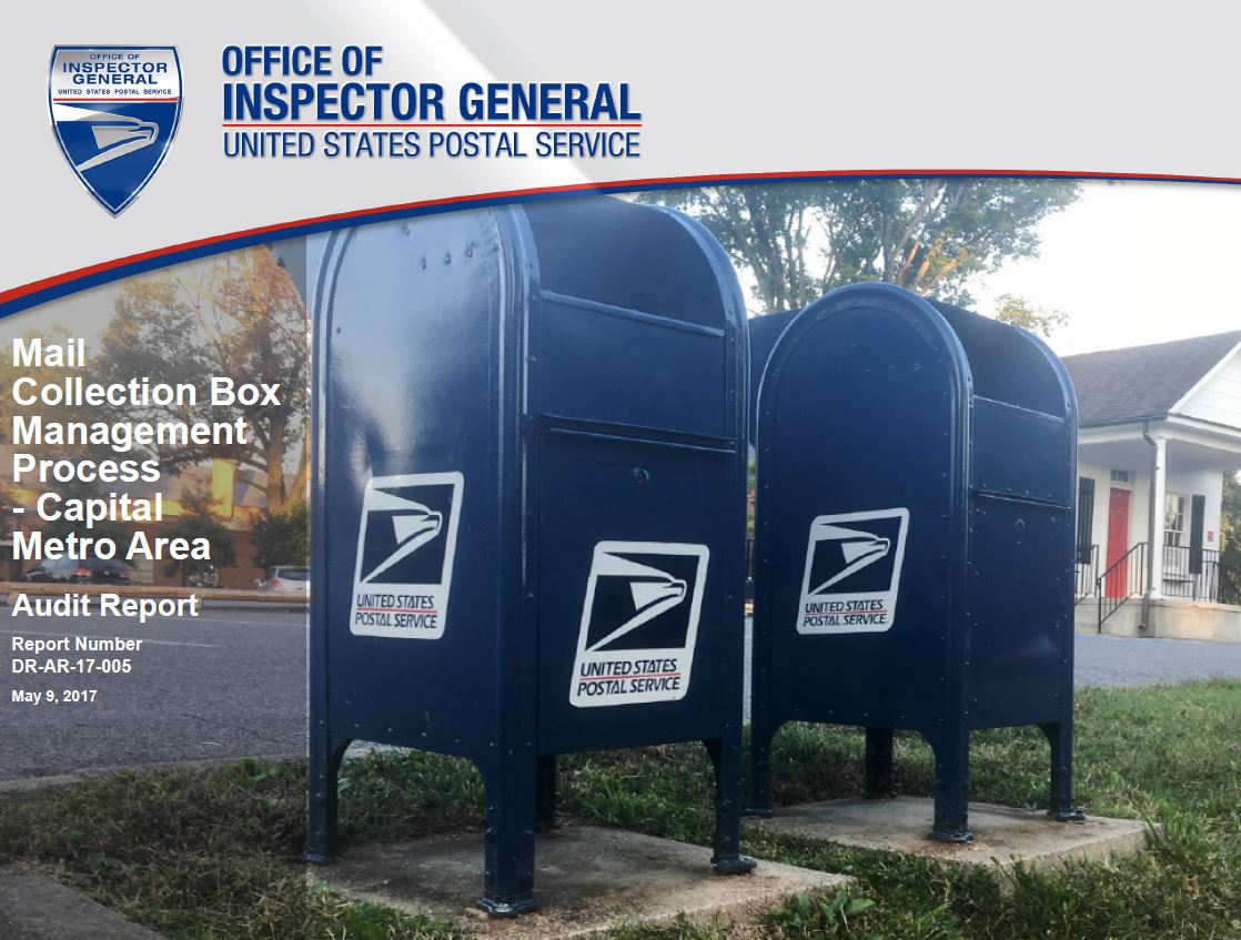 Mail Collection Box Management Cover