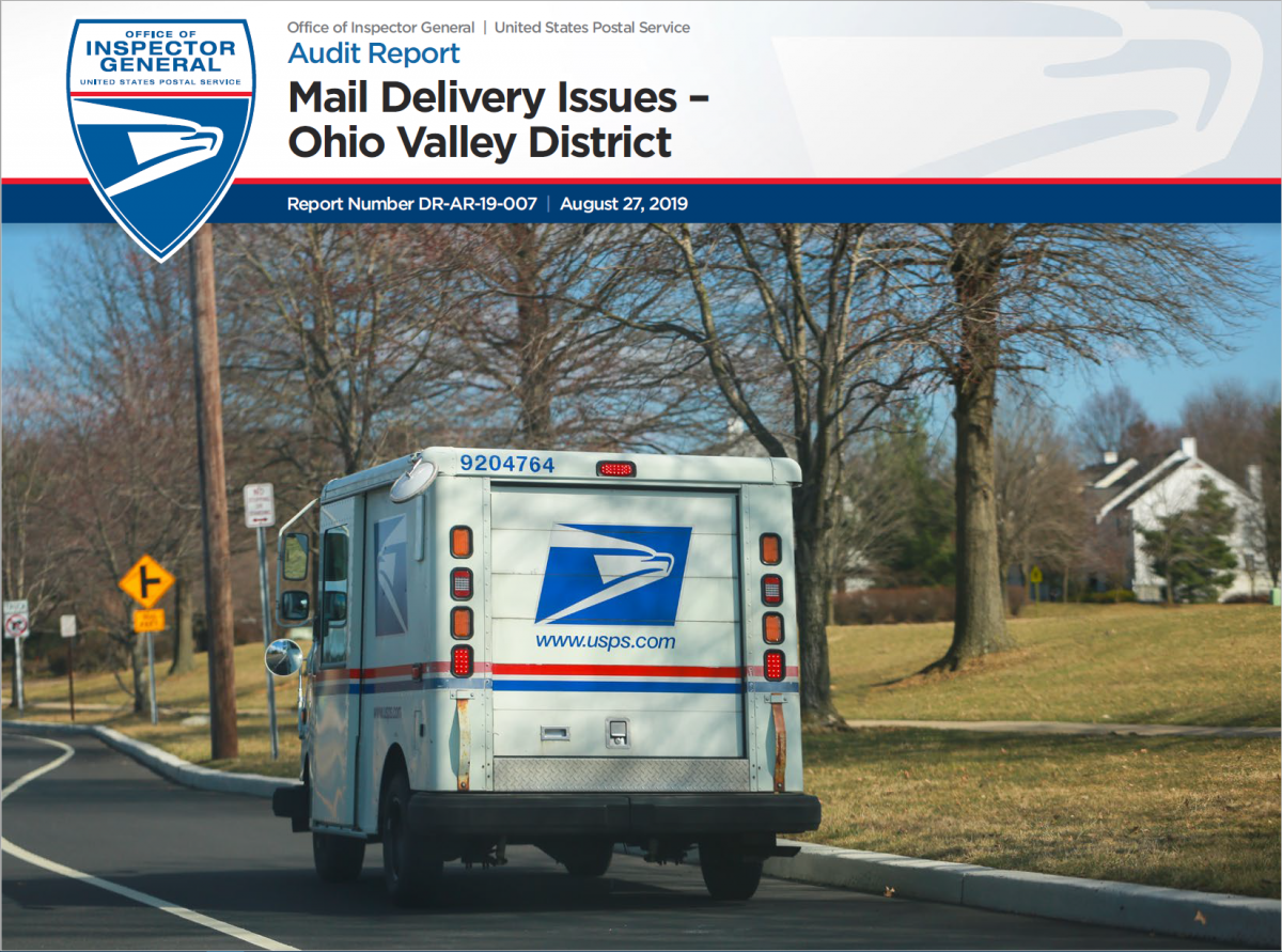 Mail Delivery Issues – Ohio Valley District | USPS Office of