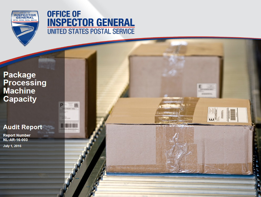 Package Processing Machine Capacity | USPS Office of Inspector General