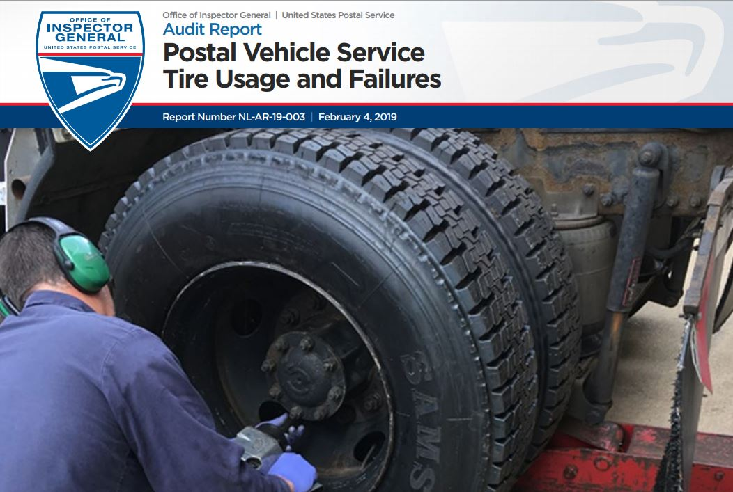 Postal Vehicle Service Tire Usage and Failures | USPS Office