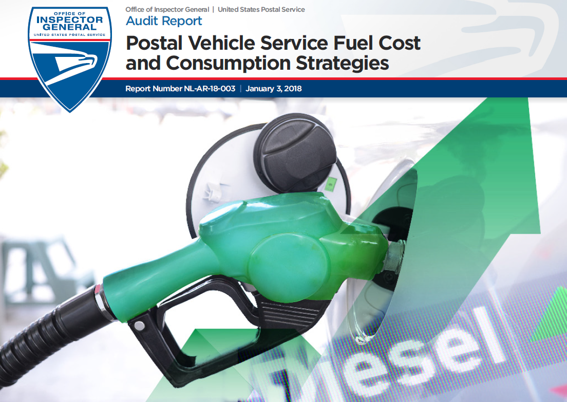 postal vehicle service fuel cost and consumption strategies usps