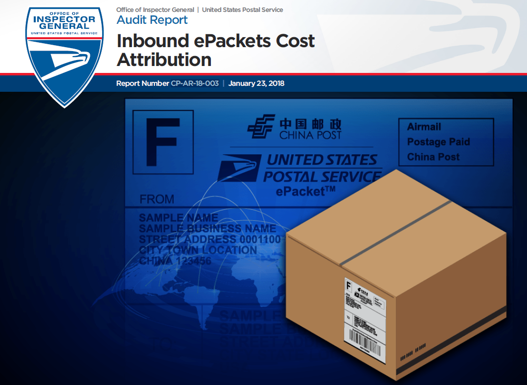 Inbound Epackets Cost Attribution Usps Office Of Inspector