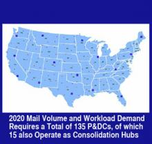 A Future Mail Processing And Transportation Network USPS Office - Us postal service transit map