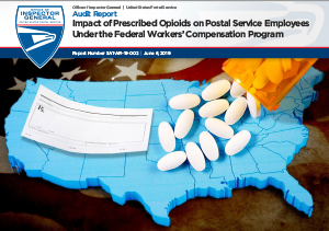 Thumbnail image of the Impact of Prescribed Opioids on Postal Service Employees Under the Federal Workers' Compensation Program audit report.